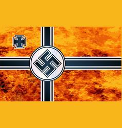Nazi swastika flag vector