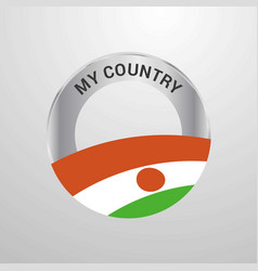 Niger my country flag badge vector