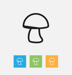 Of meal symbol on mushroom vector