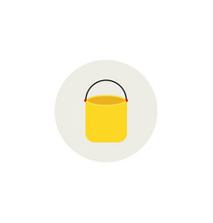 paint bucket icon color symbol modern vector image