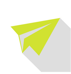 paper airplane sign pear icon with flat style vector image