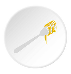 pasta icon circle vector image