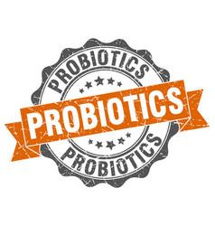 Probiotics stamp sign seal vector