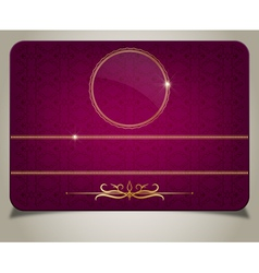 purple gift card vector image