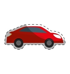 Red car city scene image design vector