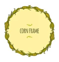Round corn frame vector
