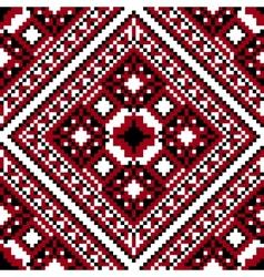 Seamless ethnic cross-stitch vector