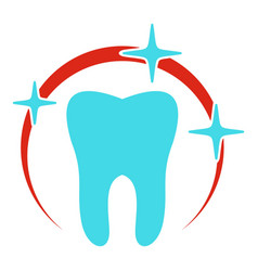 sick tooth icon flat style vector image