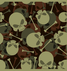 Skull and bones military pattern skeleton army vector