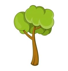 Small tree icon cartoon style vector image