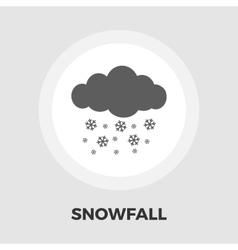 Snowfall flat icon vector image