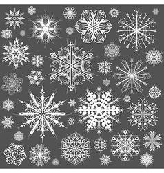 Snowflakes Christmas icons vector image
