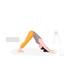 sport training woman training yoga art vector image