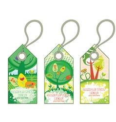 Spring shopping tags vector
