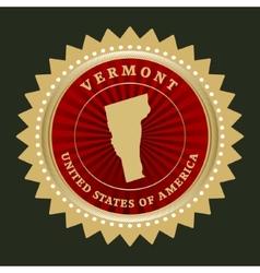 Star label Vermont vector