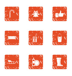 Stay cool icons set grunge style vector