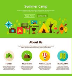 summer camp web design vector image