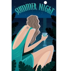 Summer Night in the tropics vector