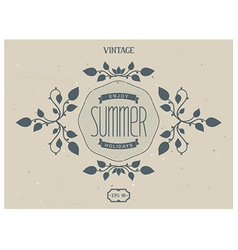 Summer Victorian elements vector