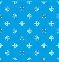 Target crosshair pattern seamless blue vector