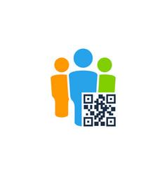 team barcode logo icon design vector image