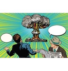 The beginning a nuclear war vector