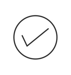 true line icon on a white background vector image