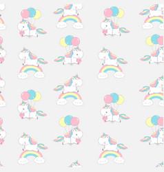Unicorn rainbow cool dream seamless pattern for vector