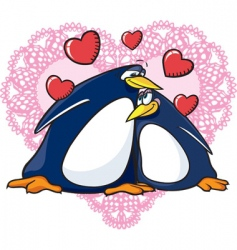 valentine penguins vector image