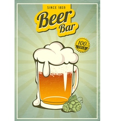 Vintage beer or brewery poster vector