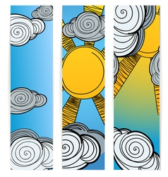 Weather Banners vector image