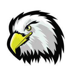 white american north bald eagle head tattoo design vector image