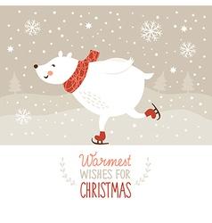 White bear skate vector image