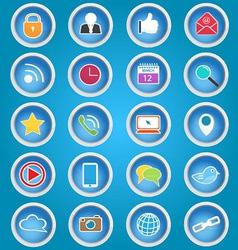 Basic Social Media Icons vector image