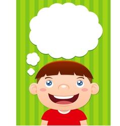 Boy thinking vector image vector image