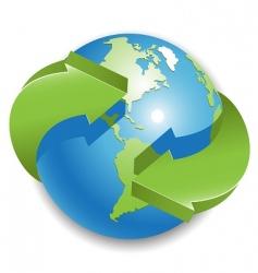 globe and arrow vector image vector image