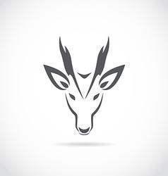 image of an barking deer vector image vector image
