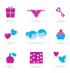 Valentine's icons vector image vector image