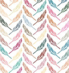 Feathers background Beautiful pattern vector image vector image