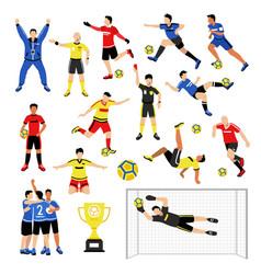 football team members set vector image vector image