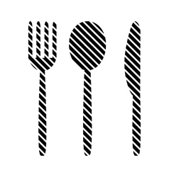 Fork spoon and knife sign vector image