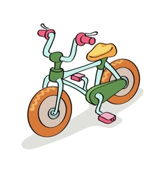 Bicycle cartoon vector image vector image