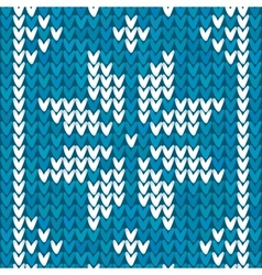 Blue Christmas embroidery background vector image