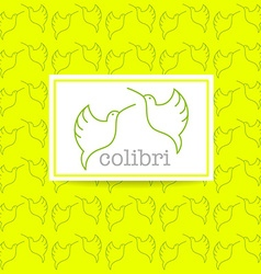 Colibri bird sign vector
