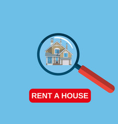 house rent icon vector image