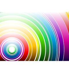 light rainbow vector image vector image