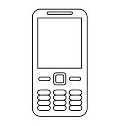 mobile phone call technology line vector image vector image