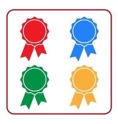 Ribbon award icons set 1 vector image