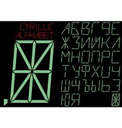 the Cyrillic alphabet indicator vector image vector image
