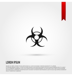 Biohazard Icon Danger concept Flat design st vector image